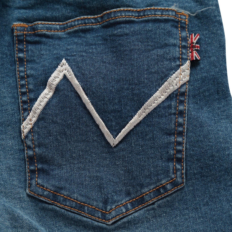 Leo&Lily Boys' Kids' Husky Rib Waist Stretch Denim Jeans Pants (10) by Leo&Lily (Image #9)