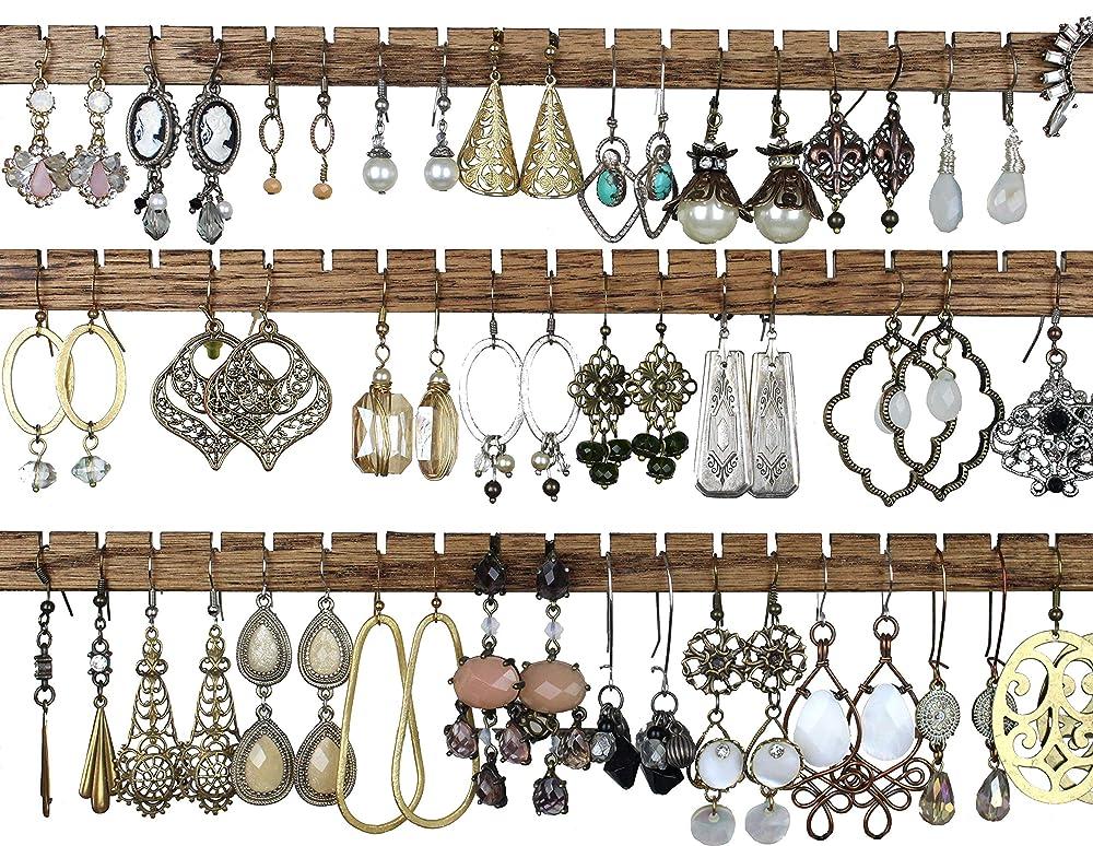 Amazon Com Diy Earring Holder Wood Earring Slats For Studs Wall Hanging Jewelry Ideas Handmade