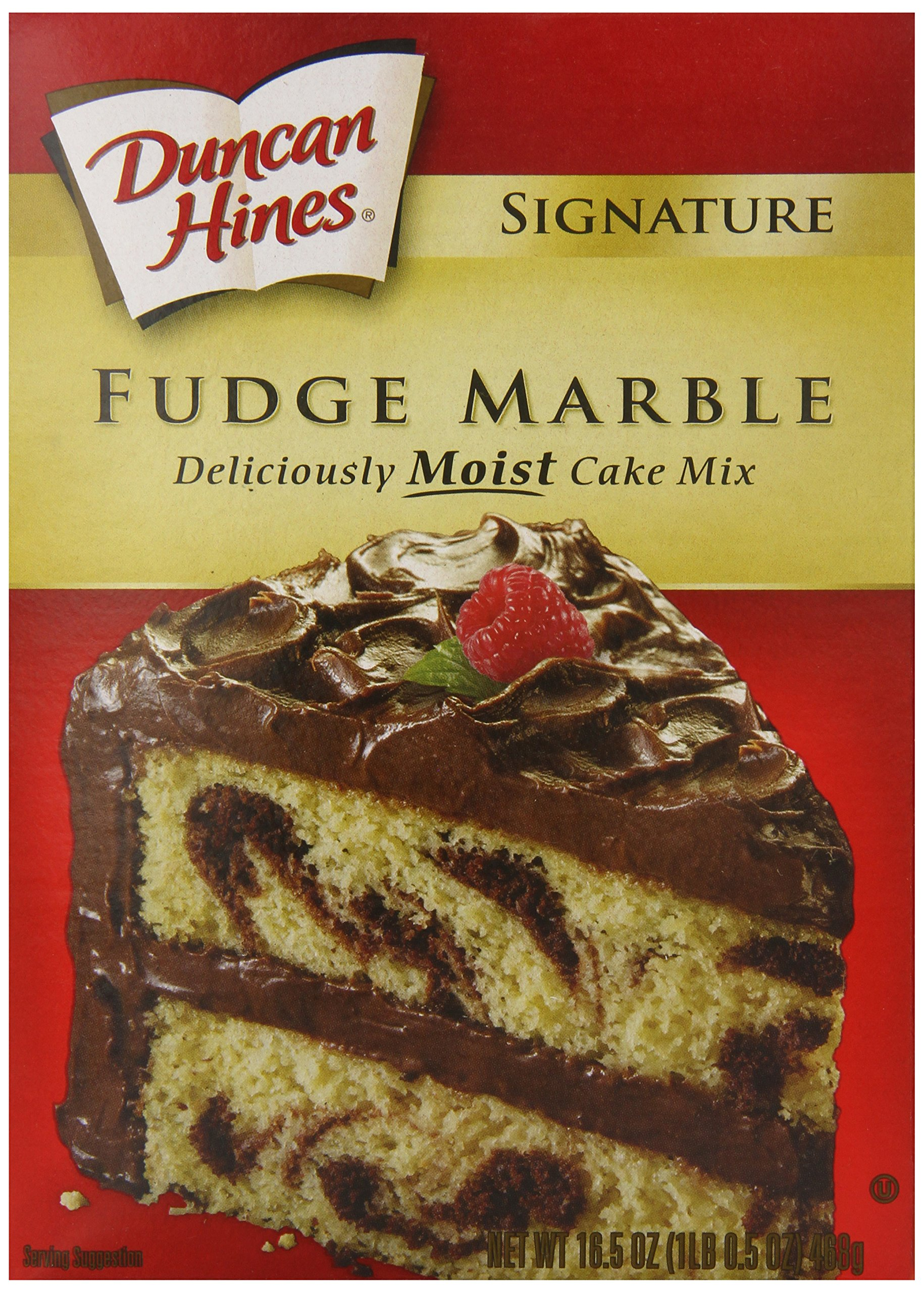 Duncan Hines Cake Mix, Fudge Marble, 16.5 Ounce (Pack of 12)