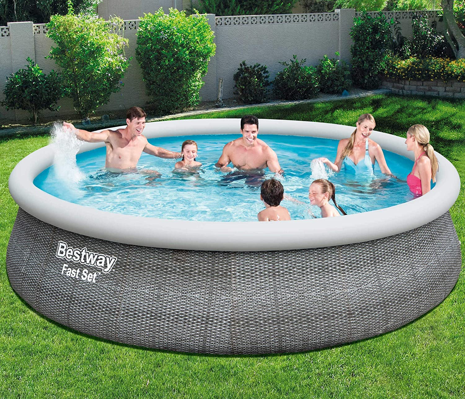 Bestway Fast Set - Piscina inflable, 4.5 x 1.07m: Amazon.es: Jardín