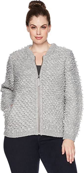 42592576513f80 Lucky Brand Women s Sweater Bomber Plus-Size Jacket