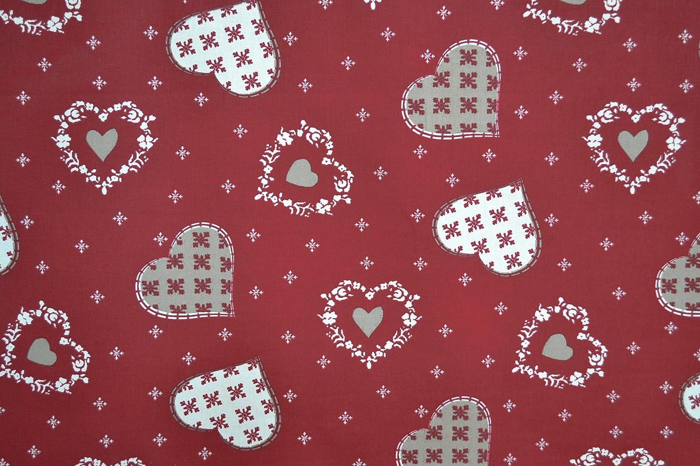 Amazon.com: Authentic French Navidad tela (Alpine) | Rojo ...