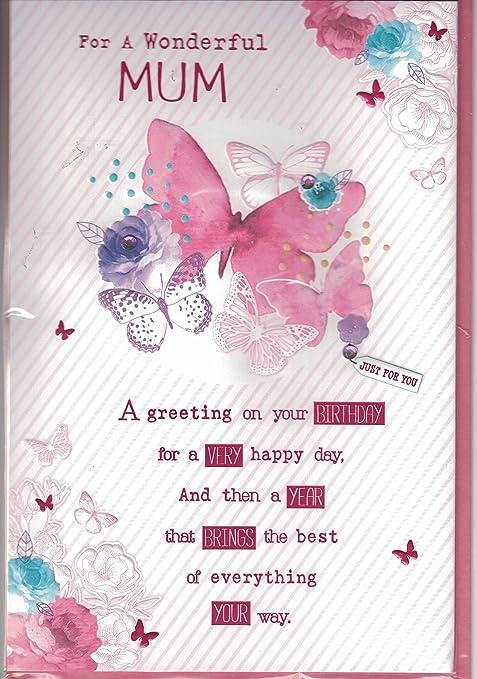 Prelude Mum Birthday Card To A Wonderful Mum Happy Birthday