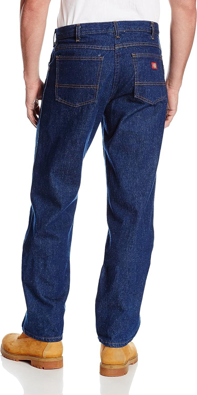 Dickies Jeans Industrial Regular Fit Denim Mens Work Uniform Rinsed Blue C993RNB