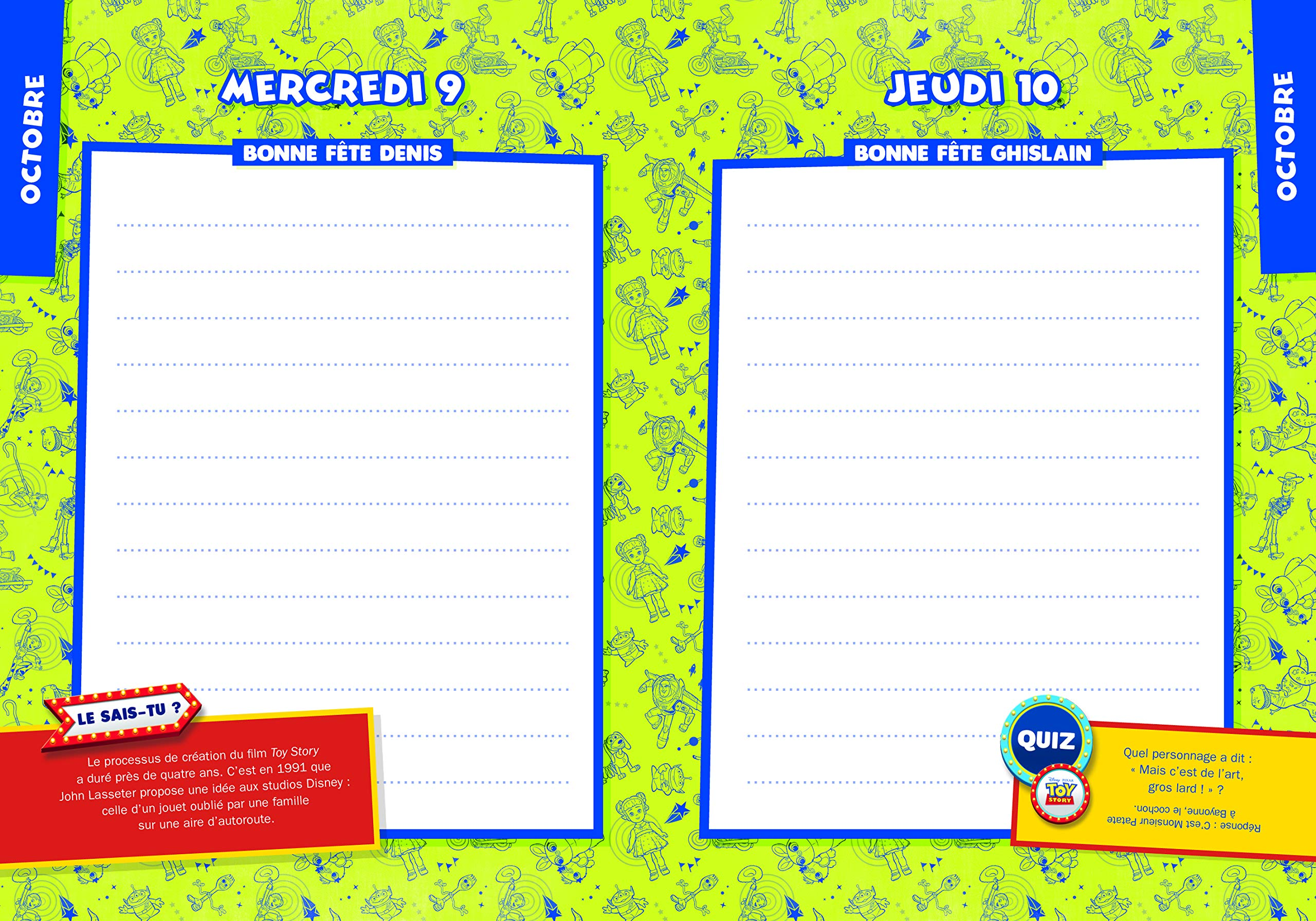TOY STORY - Agenda 2019-2020 - Disney Pixar: Amazon.es ...