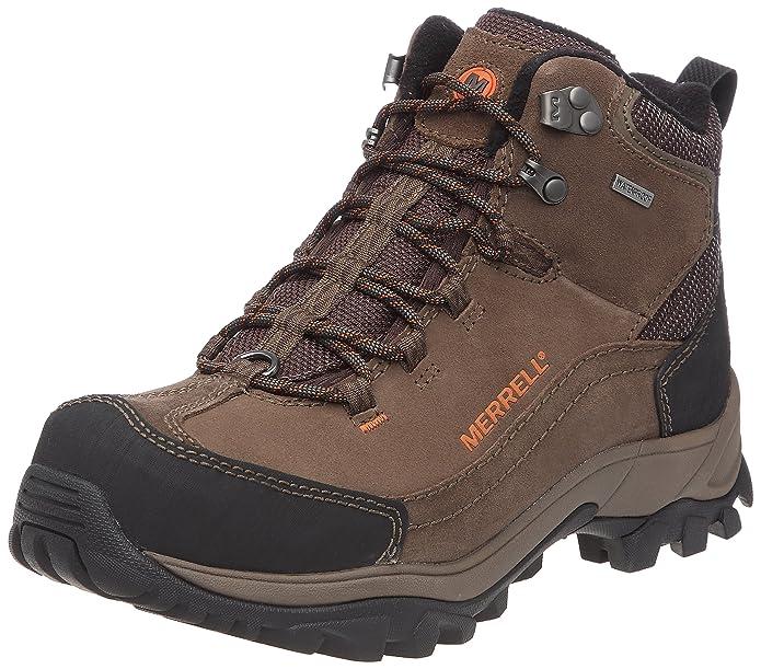 Merrell NORSEHUND OMEGA MID WTPF J39499 - Botas de nieve de cuero para hombre, color gris, talla 48: Amazon.es: Zapatos y complementos