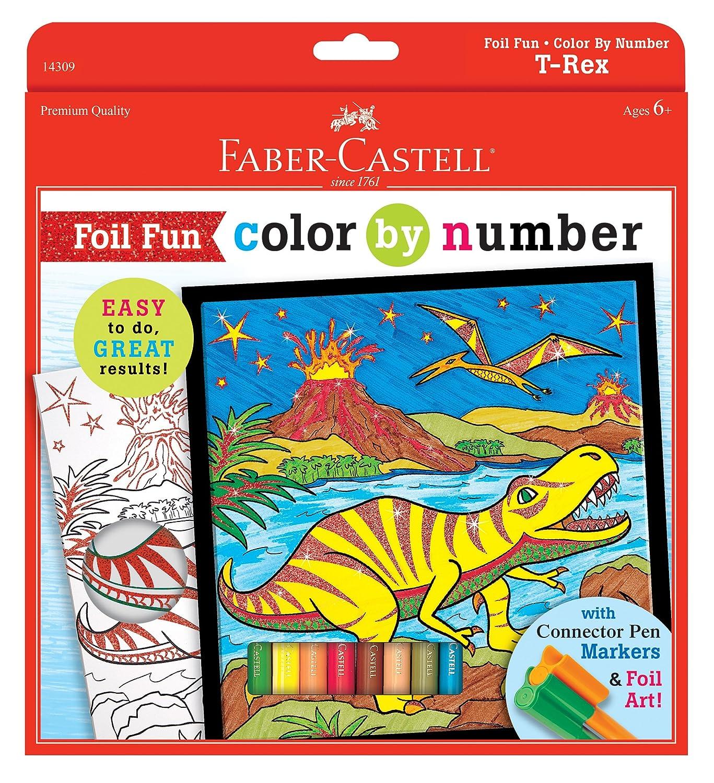 amazon com faber castell children u0027s paint by number unicorn foil