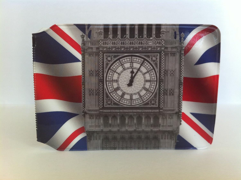 Big Ben on a Union Jack Oyster Card Holder
