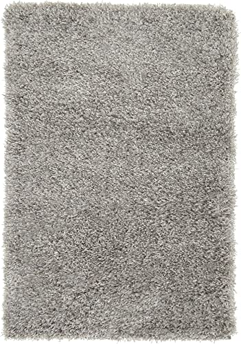 Unique Loom Luxe Solo Collection Plush Modern Gray Area Rug 2 2 x 3 0