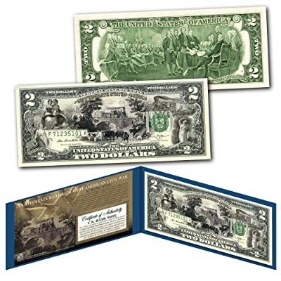 CONFEDERATE RAILROADS Banknote of The American Civil War on Genuine New $2 Bill: Everything Else