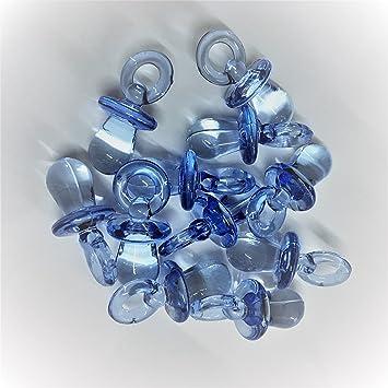 10 abalorios de plástico para chupete de 3 cm, color azul oscuro ...