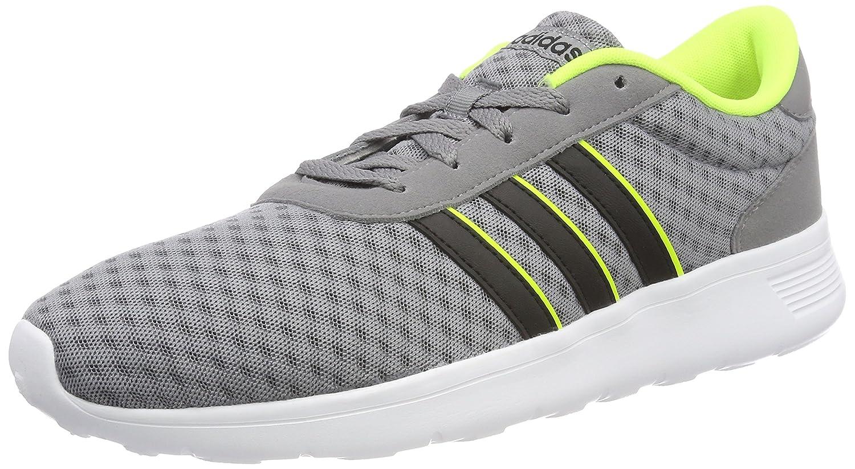 Adidas Unisex-Erwachsene Lite Racer Gymnastikschuhe Grau grau Three F17 Core schwarz Solar Gelb 45 1 3 EU