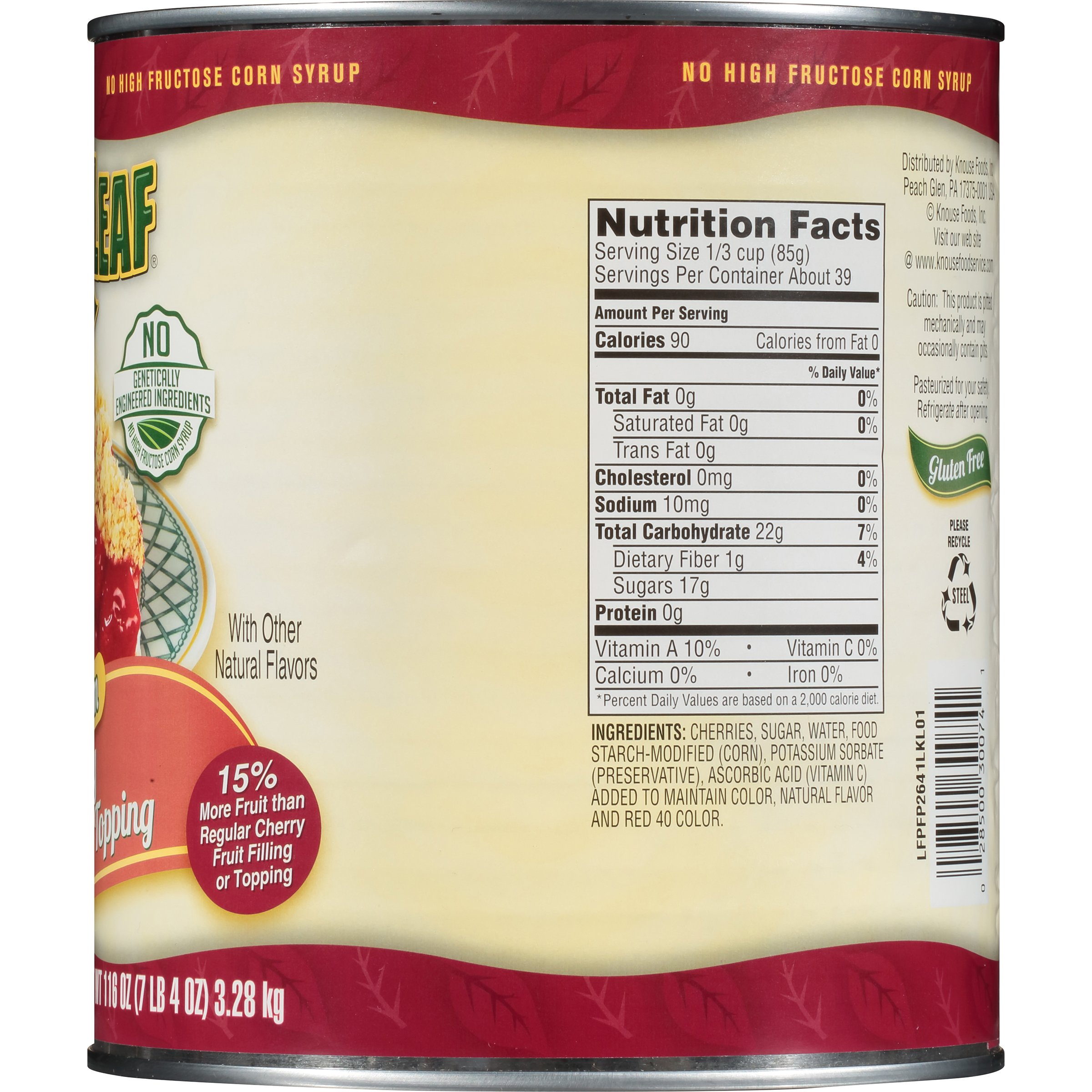 Lucky Leaf Premium Clean Label Cherry Fruit Filling or Topping Can, Cherry, 116 Ounce by Lucky Leaf (Image #3)