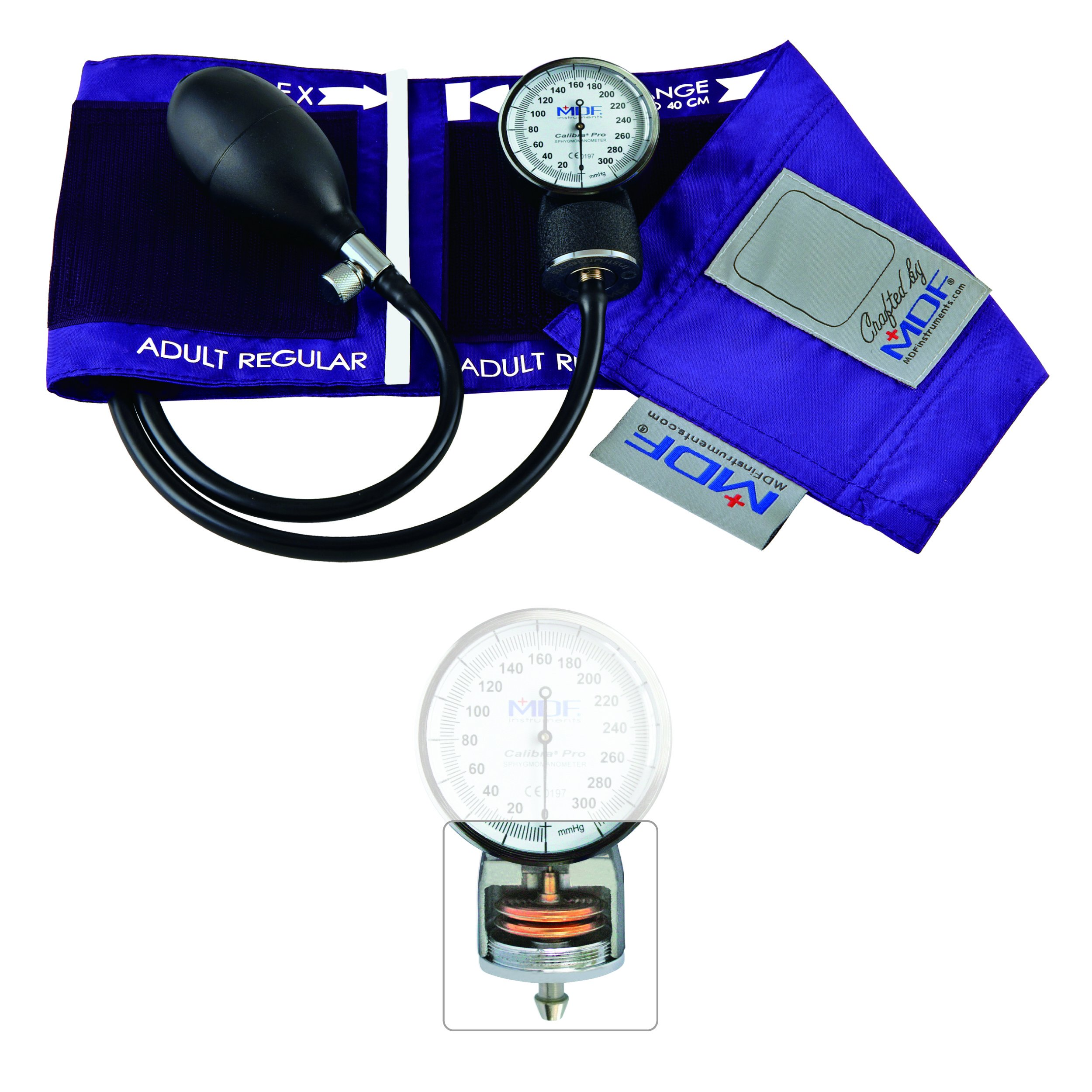 MDF Calibra Pro Aneroid Sphygmomanometer - Professional Blood Pressure Monitor with Adult Sized Cuff Included - Full Lifetime Warranty & Free-Parts-For-Life - Purple (MDF808B-08)