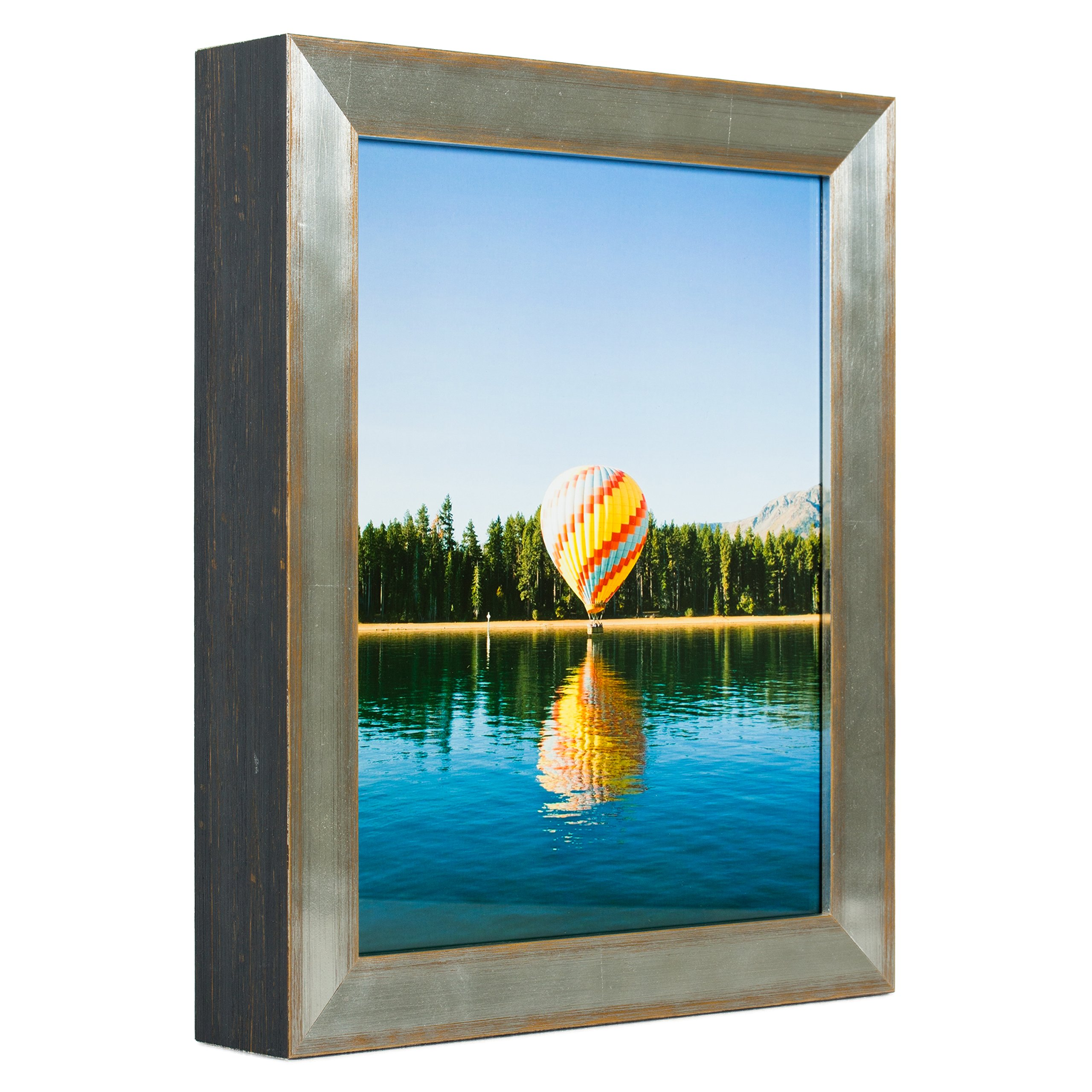 Craig Frames Siena, Contemporary Silver Picture Frame, 16 by 20-Inch
