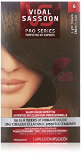 Vidal Sassoon Pro Series Hair Color, 6 Light Brown, 1 Kit