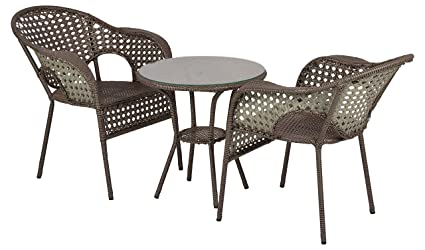 "Furni Futureâ""¢ Ventila Outdoor Patio Furniture Set 2+1 - (Brown)"