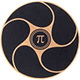 PI-Fitness Balance Board: Wooden Exercise, Fitness, and Physical Therapy Disc with Non-Slip Safety Top to Tone Muscles, Strengthen Core, and Rehab
