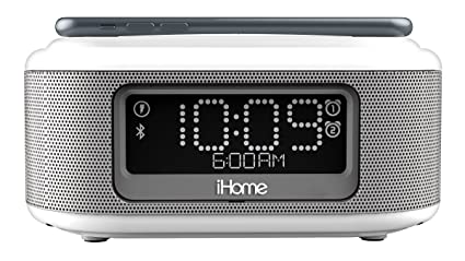6fc159dfc7c iHome iBTW23 Alarm Clock Bluetooth Stereo Lightning iPhone Qi Wireless  Charging Dock Station iPhone Xs