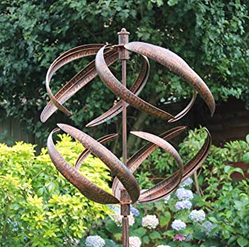 Creekwood Sphere Garden Wind Spinner Brushed Copper 56 X 56 X 208