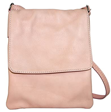 Primo Sacchi® Italian Soft Leather Hand Made Smaller Version Baby Pink  Messenger Cross Body or a3c46a466b1ba