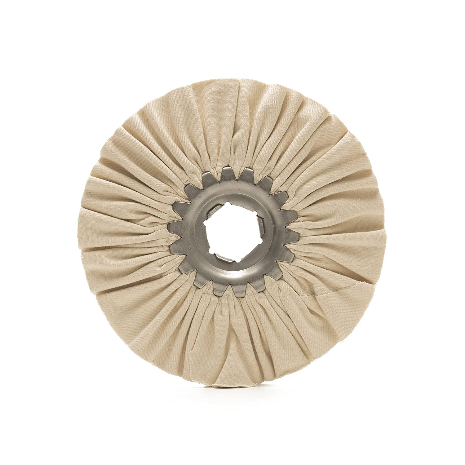 MaxiDetail DP2060 Airway Buffing Wheel FINE, Cotton Buffing Pad for Metal, Aluminium, Stainless Steel/Diameter 150mm