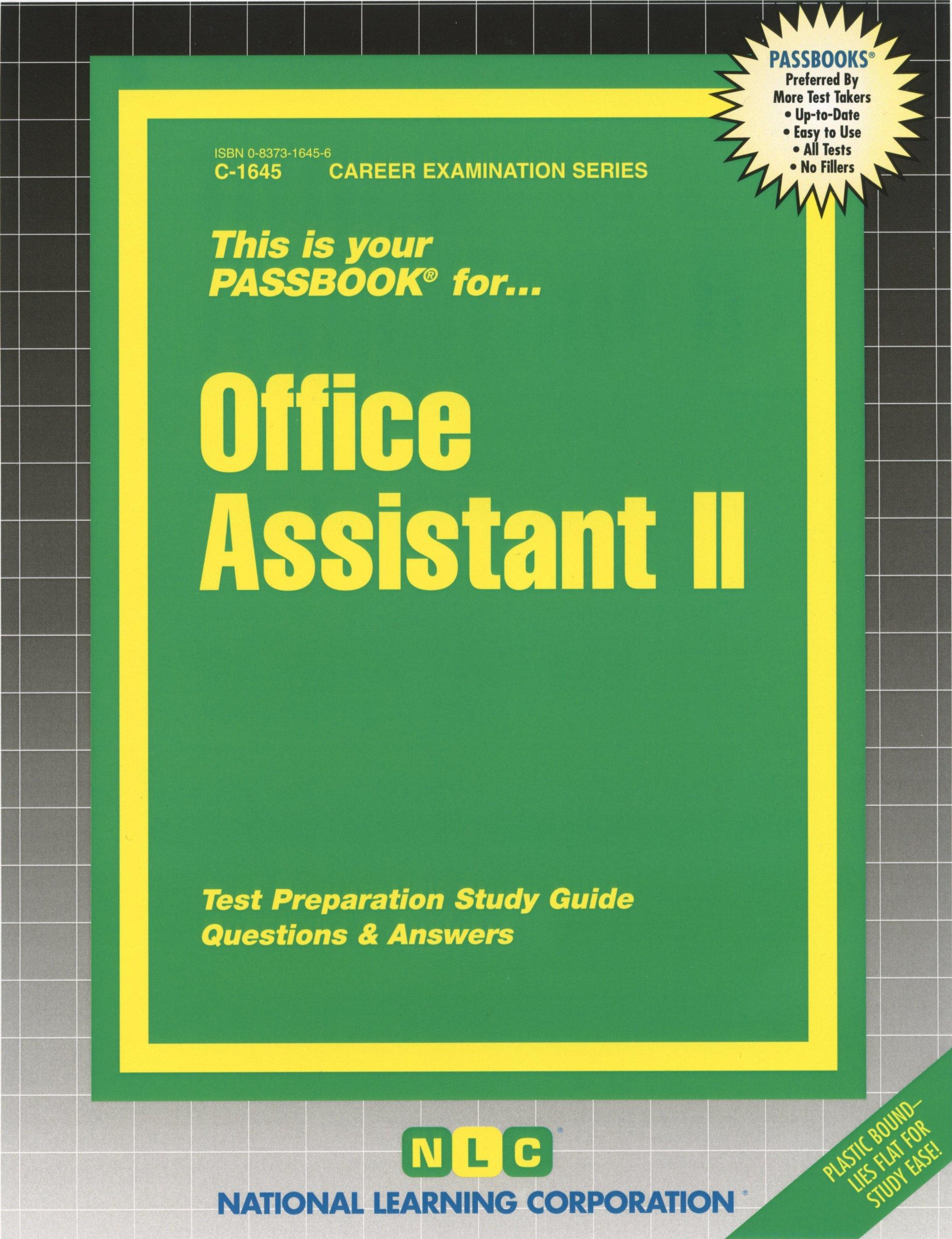 Office Assistant II (Passbooks): Passbooks: 9780829316452: Amazon.com: Books