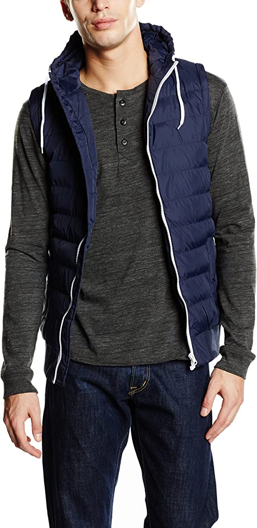 TALLA L. Urban Classics Small Bubble Hooded Vest Chaqueta para Hombre