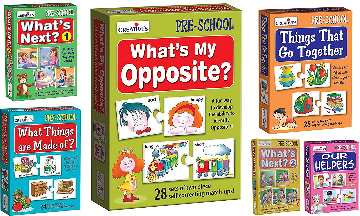 Matching Games for Kids /& Toddlers Whats My Opposite StonKraft Preschool Learning Toys Opposites Puzzle Educational Toys Learning Games