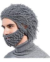 ニット帽 メンズ スポーツ 冬 Tectri スキー キャップ マスク付き ウール 音楽帽子 Bluetoothイヤホン/スピーカー・マイク内蔵 取り外し可 音楽・ハンズフリー通話可能 保暖防寒 グレー