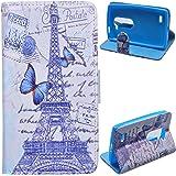 Voguecase® LG Leon 4G Elegante in pelle Custodia Case Cover Protezione chiusura ventosa (modello 6) Con Stilo Penna