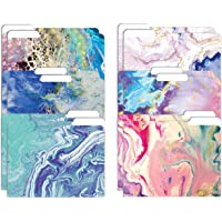"""Decorative File Folders, 12 Pack, 6 Designs, Heavyweight, Letter Size (9.5"""" x 11.5"""") with 1/3 Cut Tab, Abstract Art…"""