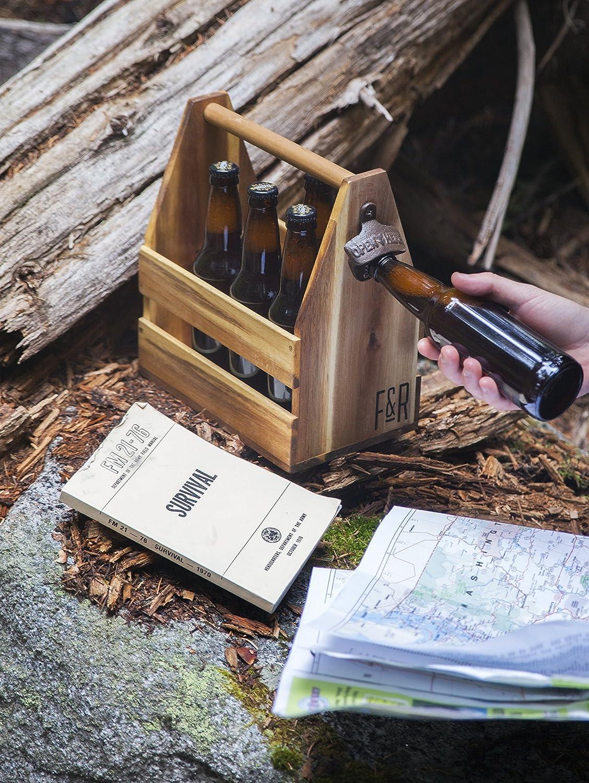 Foster /& Rye Acacia Wood Beer Caddy