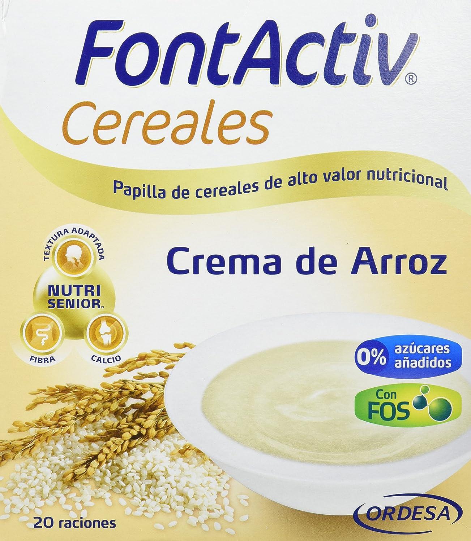 Fontactiv Crema de Arroz 600grs. Papilla de cereales para adultos y mayores con regímenes astringentes