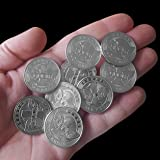 ZFG Inc. Zero F's Given Giftable Novelty Joke Coins, Color Silver, Flying Fucks, 10-Pack