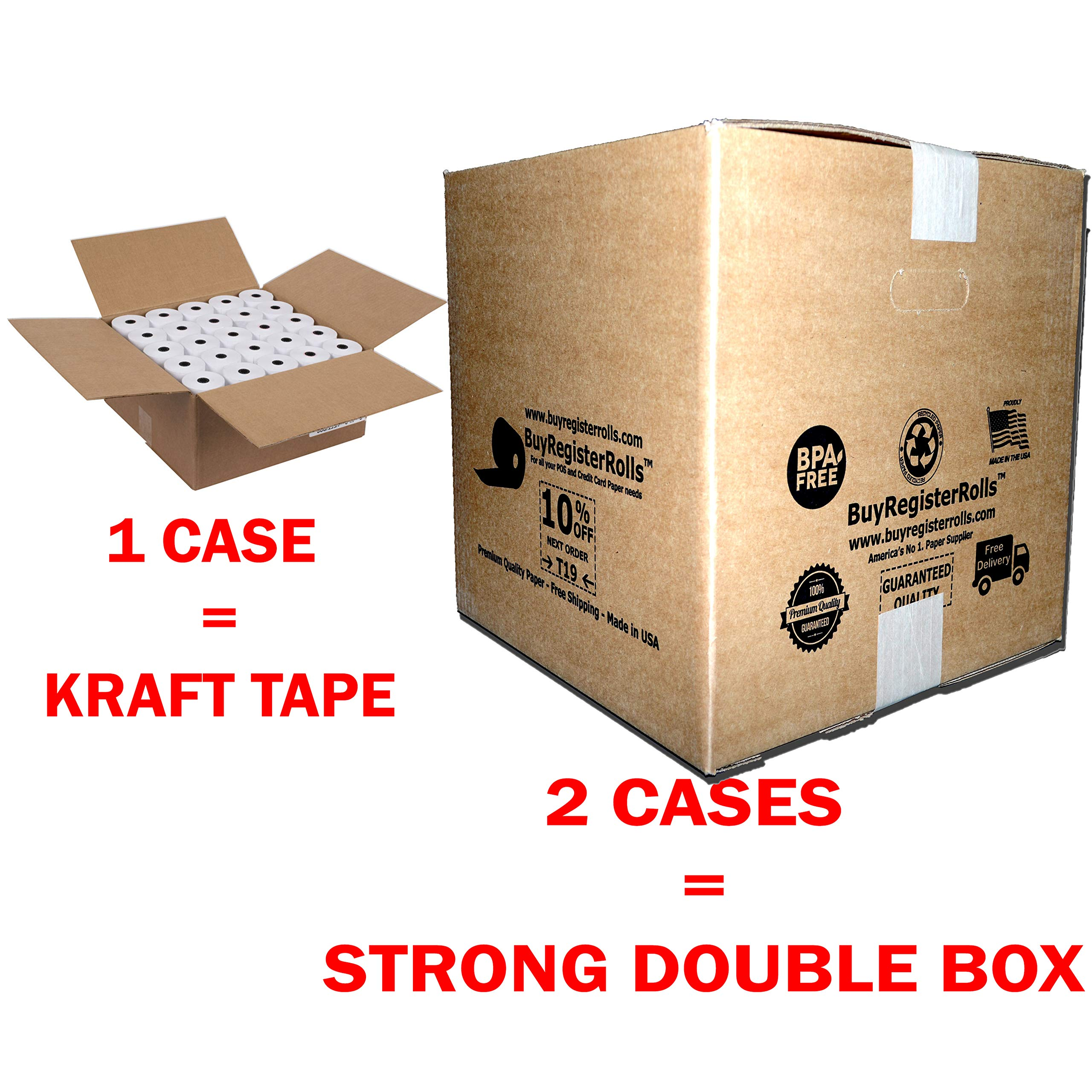 Star MICRONICS SP700 (All) 1-Ply 3 inch x 165' Paper Kitchen Printer Paper Rolls Premium Quality Bond Paper Made in USA from BuyRegisterRolls (200 Rolls) by BuyRegisterRolls