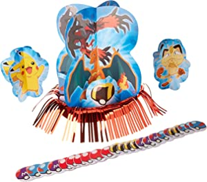 """amscan Electrifyingly Cute Pikachu & Friends Birthday Party Assorted Table Decorating Kit, Pack of 23, Blue , 12 1/2"""", Paper"""