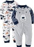 Carter's Boys' Toddler 2-Pack Fleece Footless Pajamas