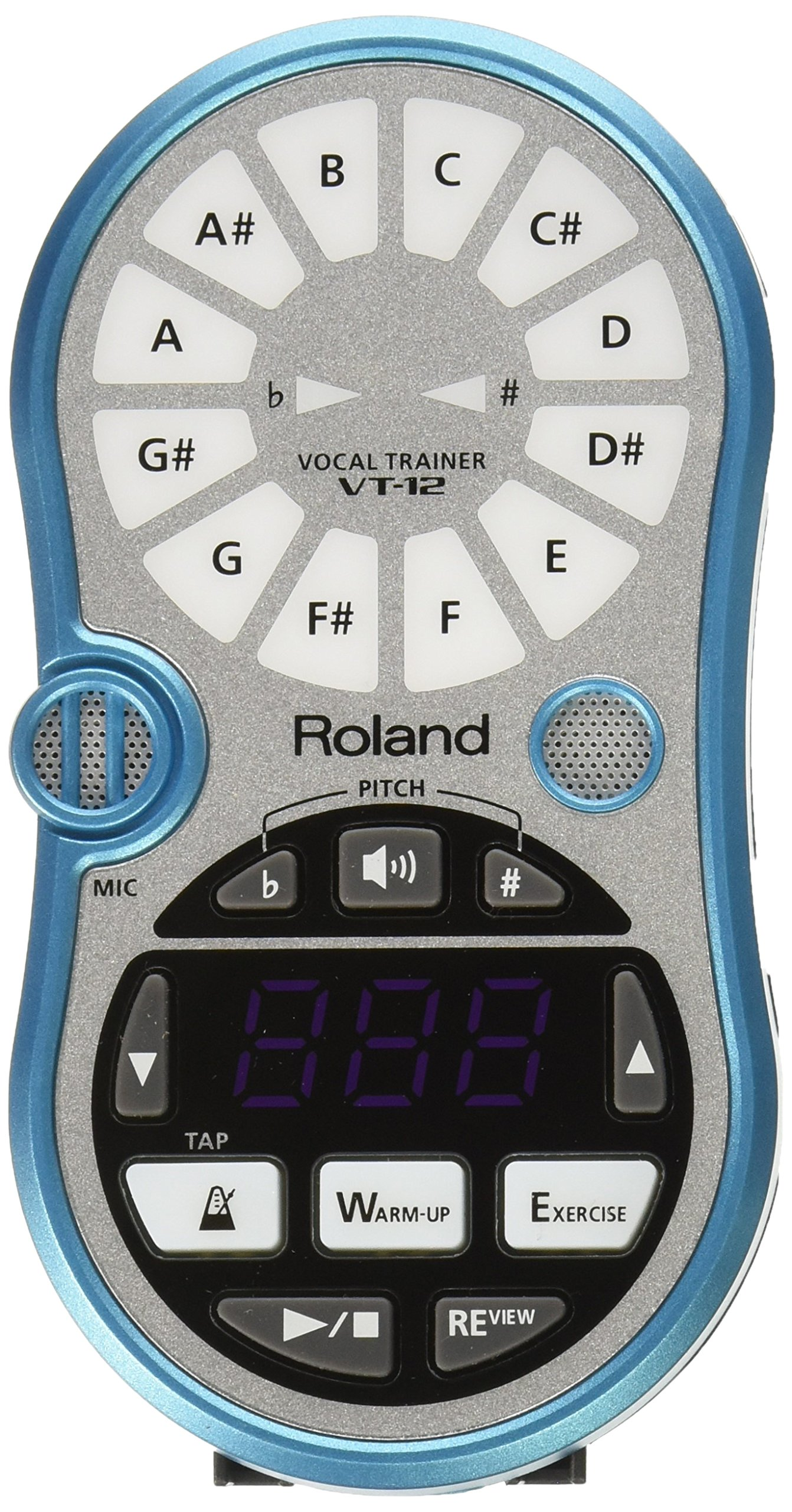 Roland VT12BU VT-12 Vocal Trainer, Blue