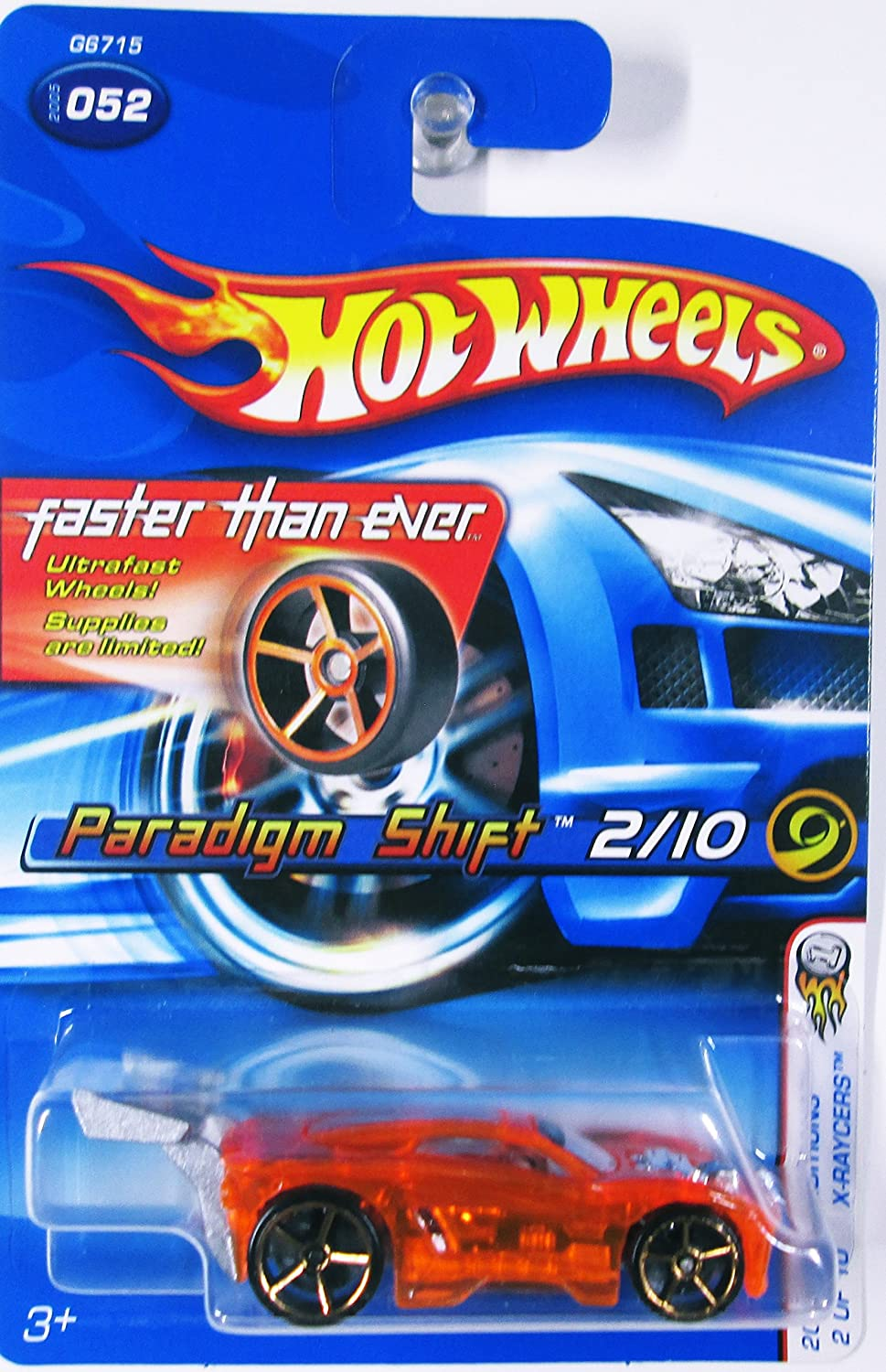 2005 First Editions Editions First X-Raycers  2 Paradigm Shift Orange Faster Than Ever Wheels  2005-52 Collectible Collector Car Mattel Hot Wheels 1:64 Scale by Hot Wheels aac850