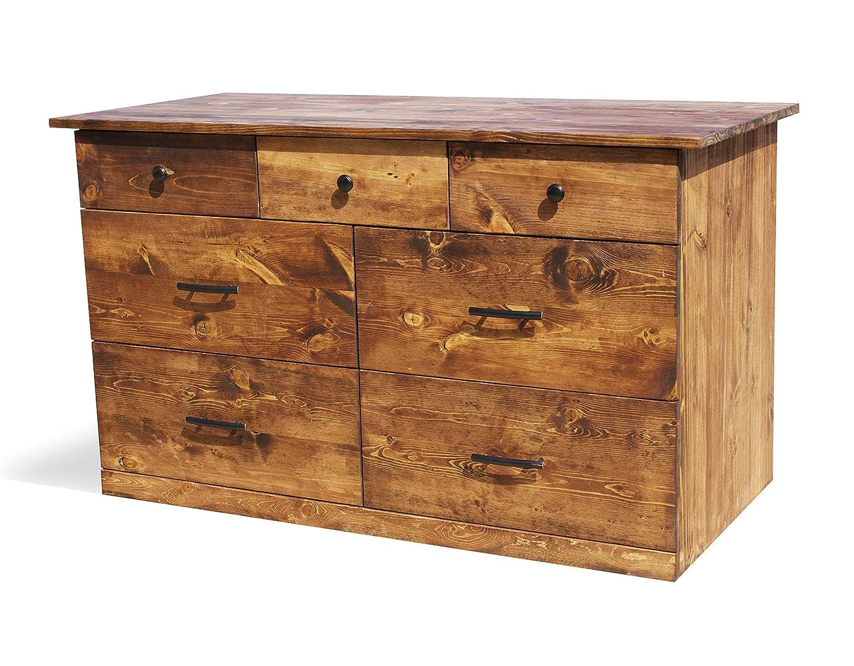 Amazon Com Solid Wood Rustic Dresser Home Living Bedroom