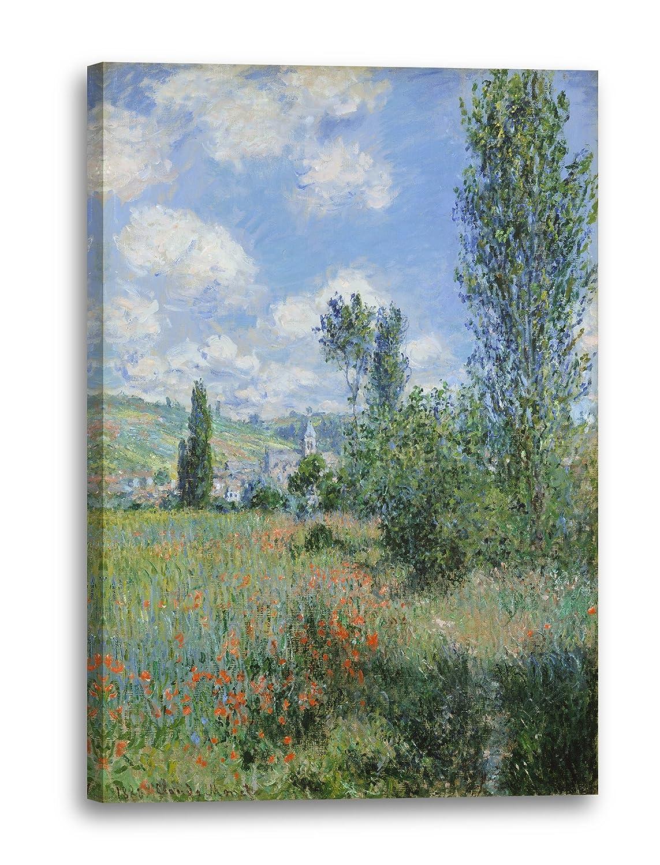 Printed Paintings Leinwand (80x120cm)  Claude Monet - Aussicht von Vétheuil