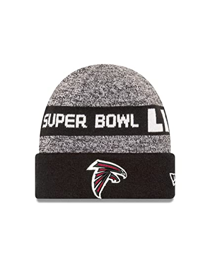 huge selection of 9028a 5893c New Era NFL Atlanta Falcons Super Bowl Li Participation Knit Beanie, One  Size, Gray