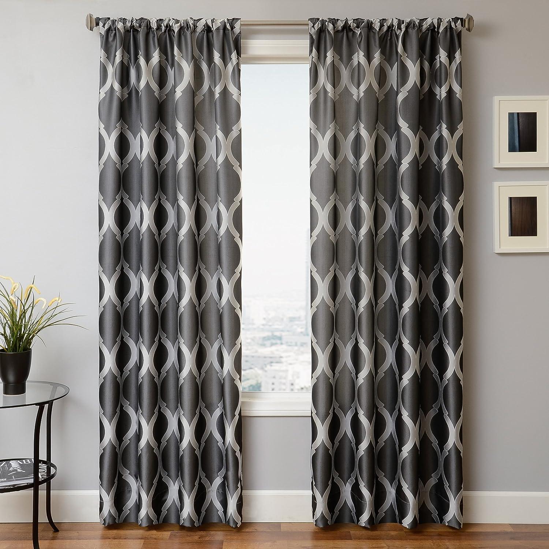 Softline Home Fashions SENTPEWRP-84 Samantha Single Curtain Panel Pewter