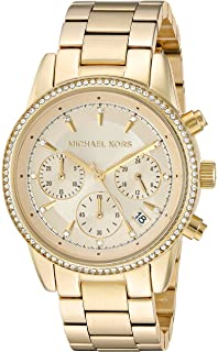 0ddb56c3ef7f Amazon.com  Michael Kors Women s Parker Gold-Tone Watch MK5354 ...