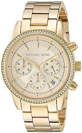 1f0339f3f483 Amazon.com  Michael Kors Women s Ritz Gold-Tone Watch MK6356 ...
