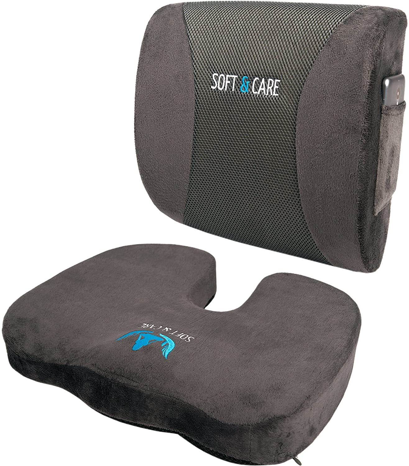 SOFTaCARE Seat Cushion Coccyx Orthopedic Memory Foam