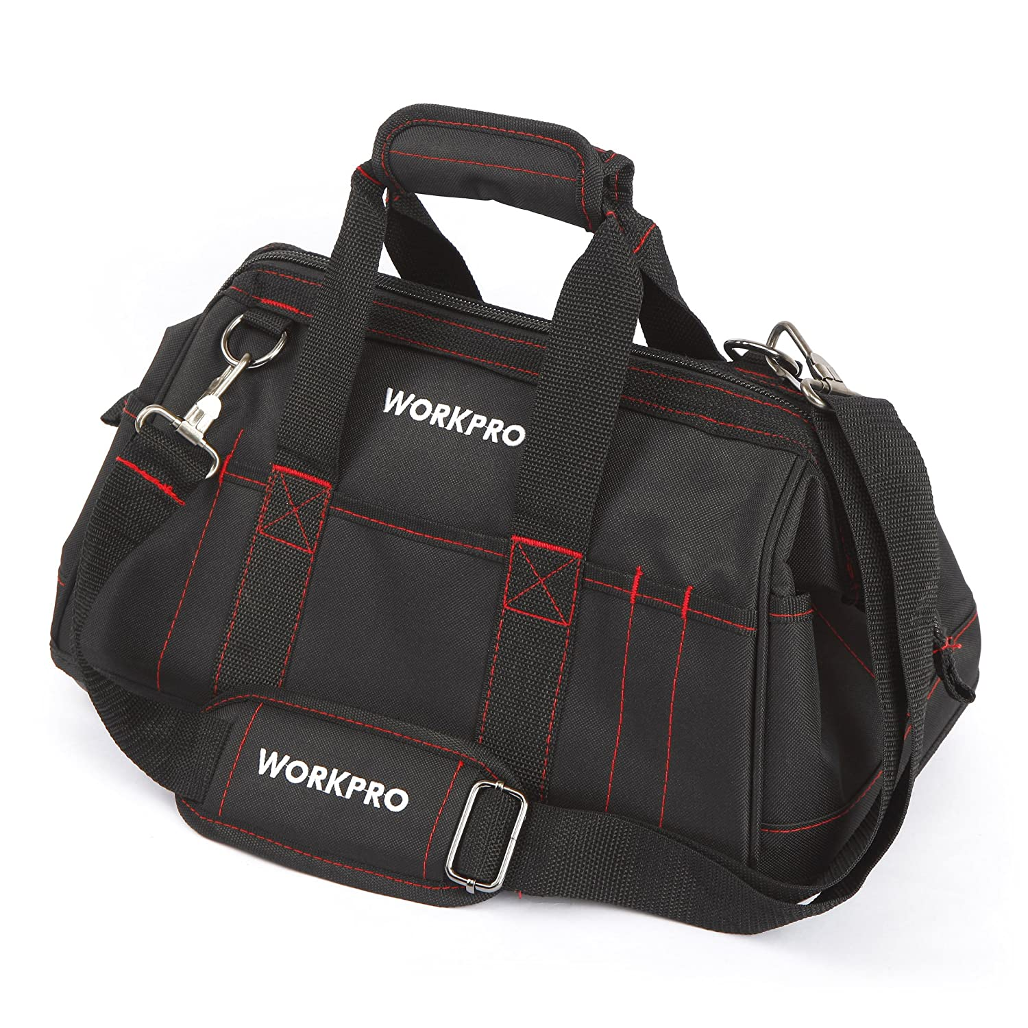 Workpro W081022a 16 Inch Close Top Wide Mouth Tool Storage Bag With Dompet Wanita Rc550 Water Proof Rubber Base