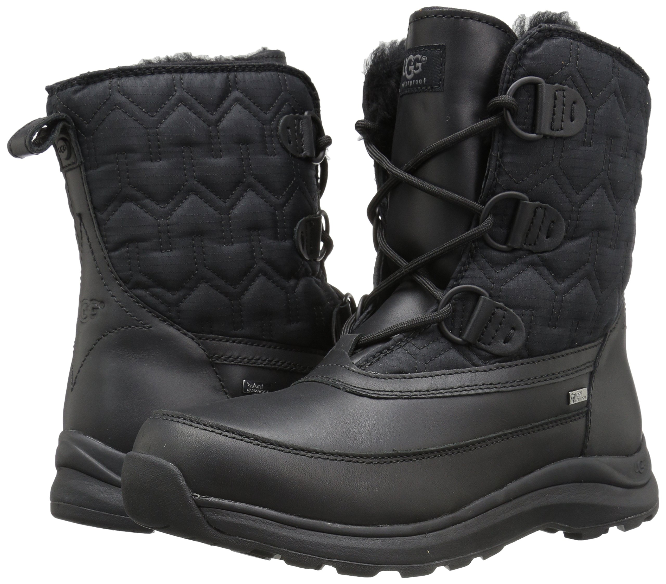UGG Women's Lachlan Winter Boot, Black, 8 M US by UGG (Image #6)