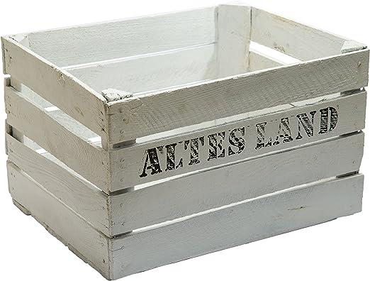 4 pcs fabricado en madera maciza cajas - blanco